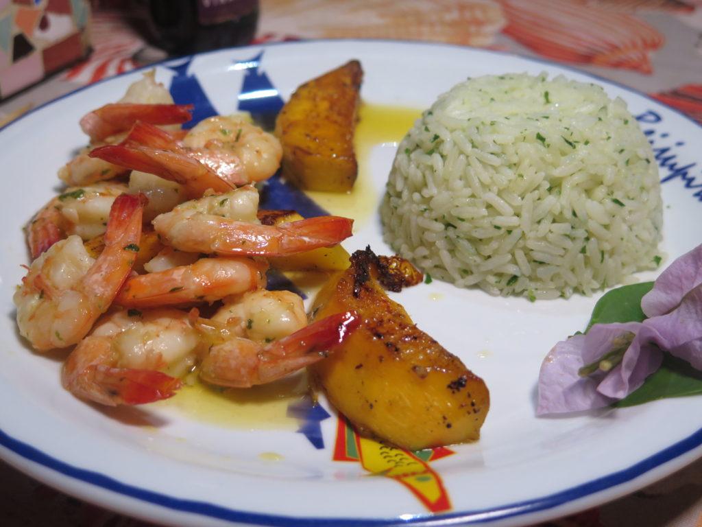 delícias de frutas e frutos do mar