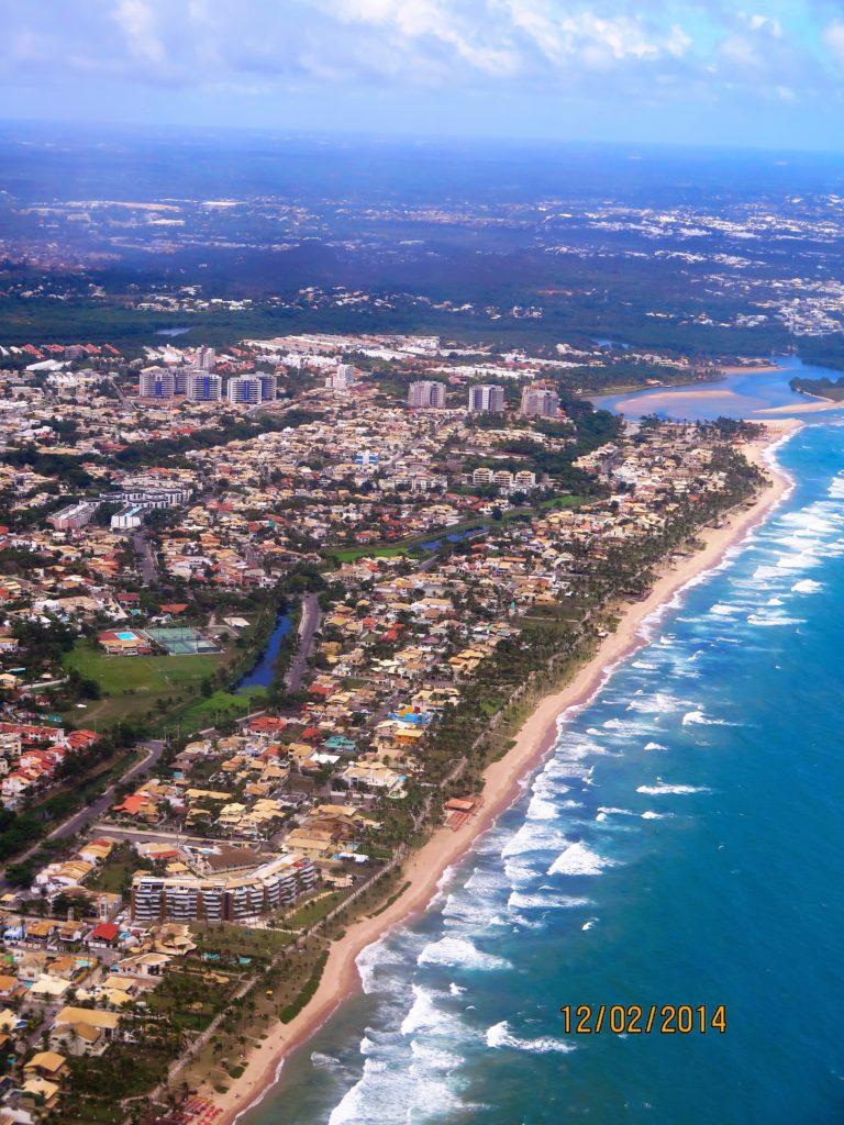vista aérea de Vilas do Atlântico